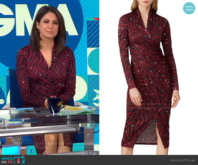 Animal Printed Sheath Dress by Great Jones worn by Cecilia Vega  on Good Morning America