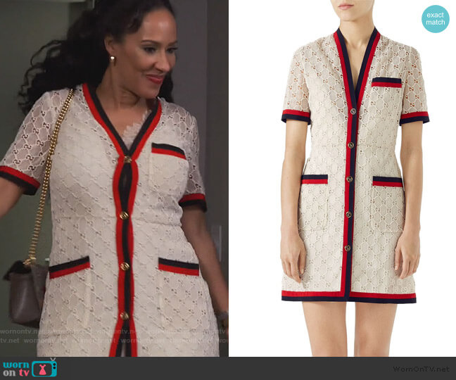 GG Macrame Dress by Gucci worn by Tanya Sam on The Real Housewives of Atlanta