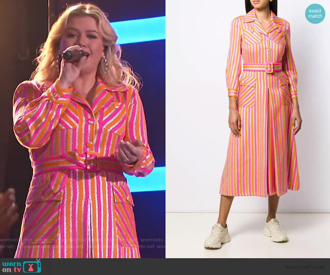 Striped Shirt Dress Gucci worn by Kelly Clarkson  on The Kelly Clarkson Show