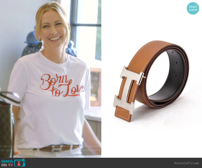 H Belt by Hermes worn by Stephanie Hollman  on The Real Housewives of Dallas
