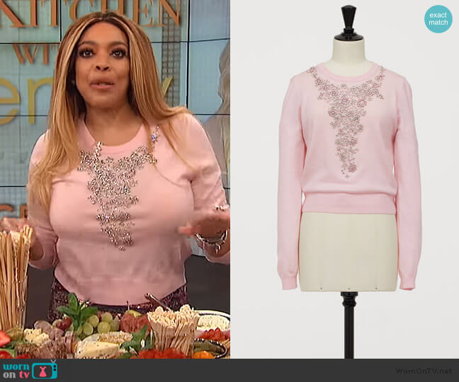 Sweater with Rhinestones by H&M worn by Wendy Williams  on The Wendy Williams Show