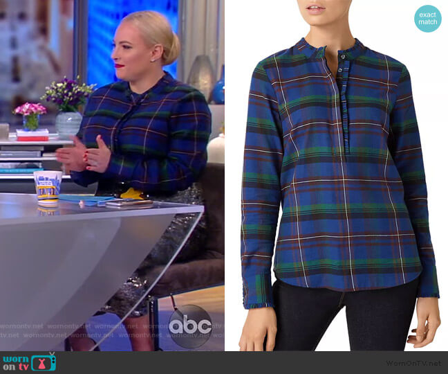 Kristen Plaid Shirt by Hobbs London worn by Meghan McCain  on The View