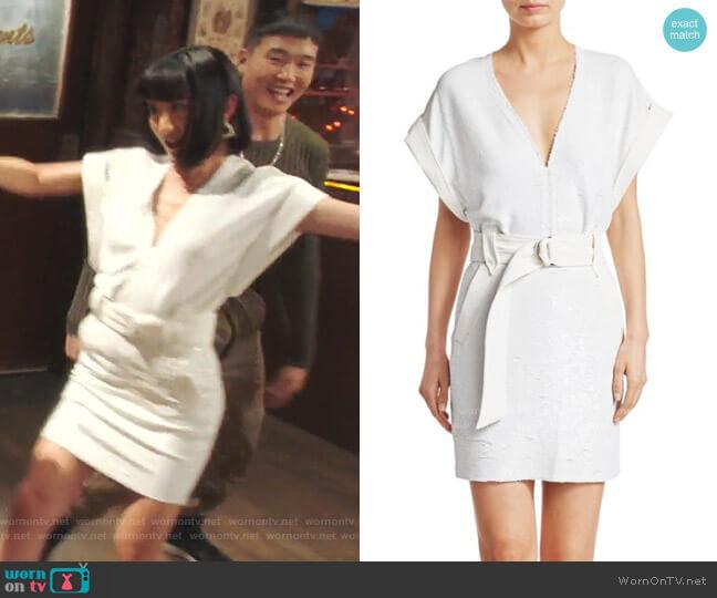 Alistair Sequin Mini Dress by IRO worn by Mei Lin (Poppy Liu) on Sunnyside