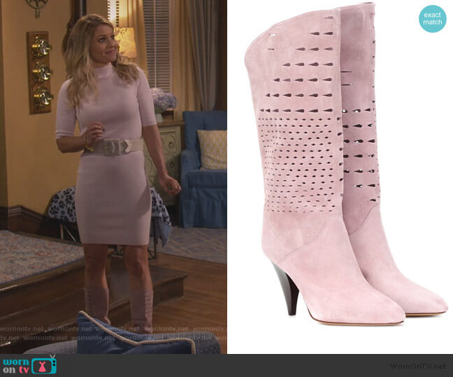 Lurrey suede boots by Isabel Marant worn by DJ Tanner-Fuller (Candace Cameron Bure) on Fuller House