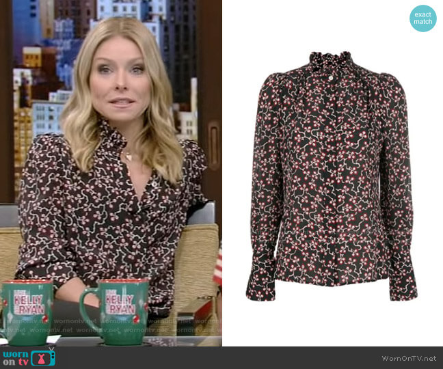 Lamia Blouse Blouse by Isabel Marant worn by Kelly Ripa  on Live with Kelly & Ryan