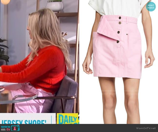Nimes Skirt by Jacquemus worn by Morgan Stewart  on E! News