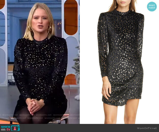 Jane Velvet Dress by A.L.C. worn by Sara Haines  on Good Morning America