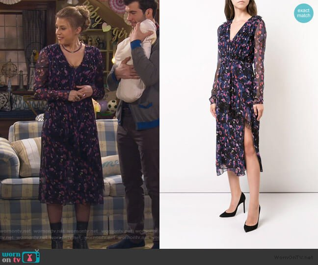 Gathered Floral Dress by Jason Wu worn by Stephanie Tanner (Jodie Sweetin) on Fuller House