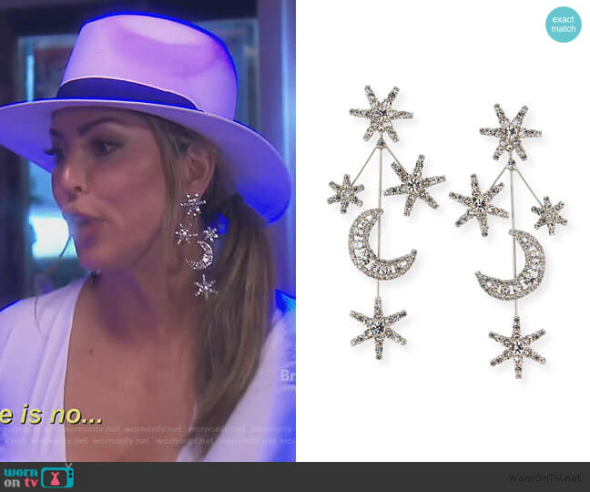 Andromeda Crystal Earrings by Jennifer Behr worn by Kelly Dodd  on The Real Housewives of Orange County