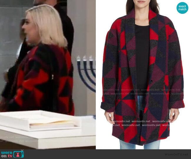 Joie Halona Blanket Coat worn by Maxie Jones (Kirsten Storms) on General Hospital