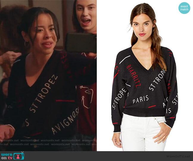Wilhelmina Sweater by Joie worn by Mariana Foster (Cierra Ramirez) on Good Trouble
