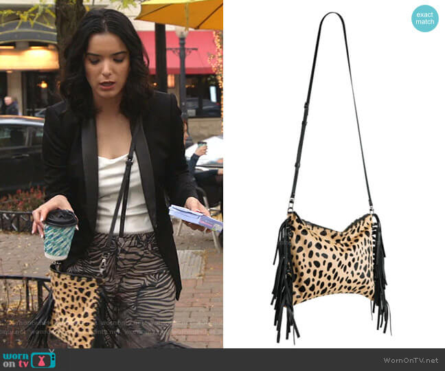 Kalon Fringe Crossbody Bag by Mofe worn by Dylan Gelula on Shameless