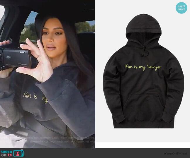 Kim is My Lawyer by Kim Kardashian worn by Kim Kardashian  on Keeping Up with the Kardashians