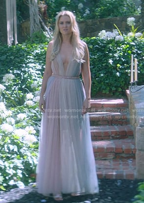 Karolina's tulle multicolored gown on Marvels Runaways