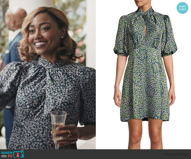 Flair Flora Devore Mini Dress by Kate Spade worn by Daisy Grant (Patina Miller) on Madam Secretary