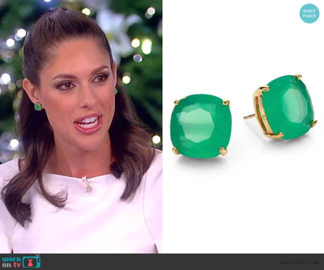 Square Stud Earrings by Kate Spade worn by Abby Huntsman  on The View