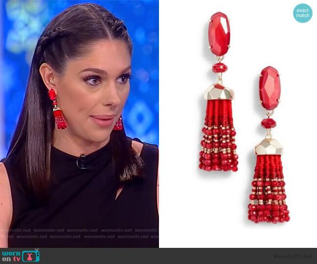 Dove Tassel Earrings by Kendra Scott worn by Abby Huntsman  on The View