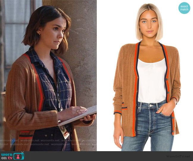 The Leon Cardigan by Kule worn by Callie Foster (Maia Mitchell) on Good Trouble
