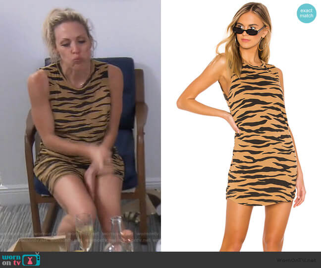 Tiger Muscle Tank Dress by LNA worn by Braunwyn Windham-Burke  on The Real Housewives of Orange County
