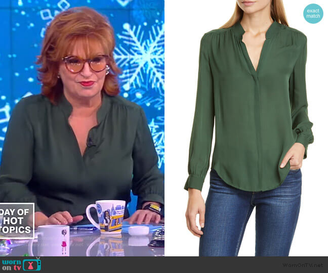 Concealed Front Blouse by L'Agence worn by Joy Behar  on The View