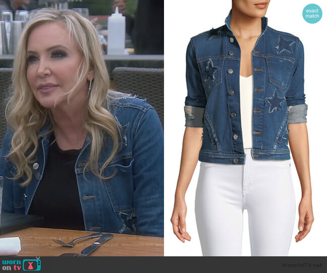 Janelle Slim Raw-Edge Jacket by L'Agence worn by Shannon Beador  on The Real Housewives of Orange County