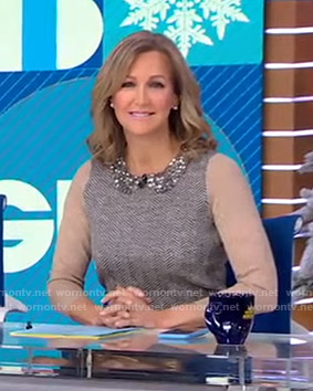 Lara's embellished collar sweater on Good Morning America