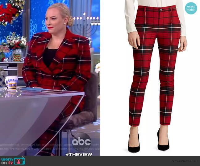 Plaid Straight-Leg Pants by Ralph Lauren worn by Meghan McCain  on The View