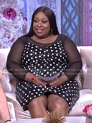 Loni's sequined polka dot dress on The Real