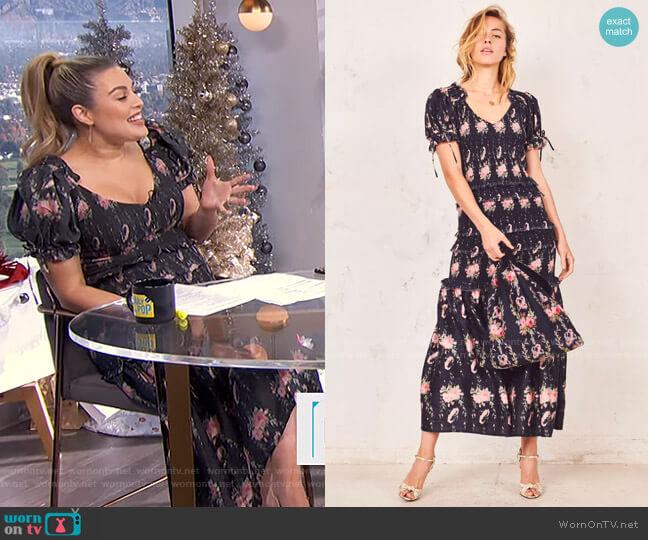 Thea Dress by LoveShackFancy worn by Carissa Loethen Culiner  on E! News