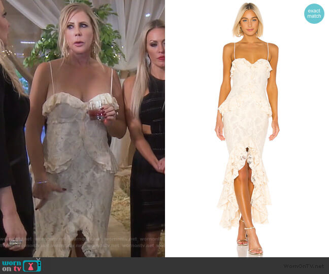 Melissa Gown by Lovers + Friends worn by Vicki Gunvalson  on The Real Housewives of Orange County