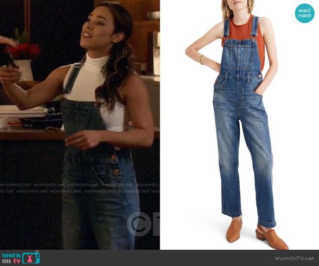Madewell Straight Leg Overalls worn by Emily Lopez (Jessica Camacho) on All Rise