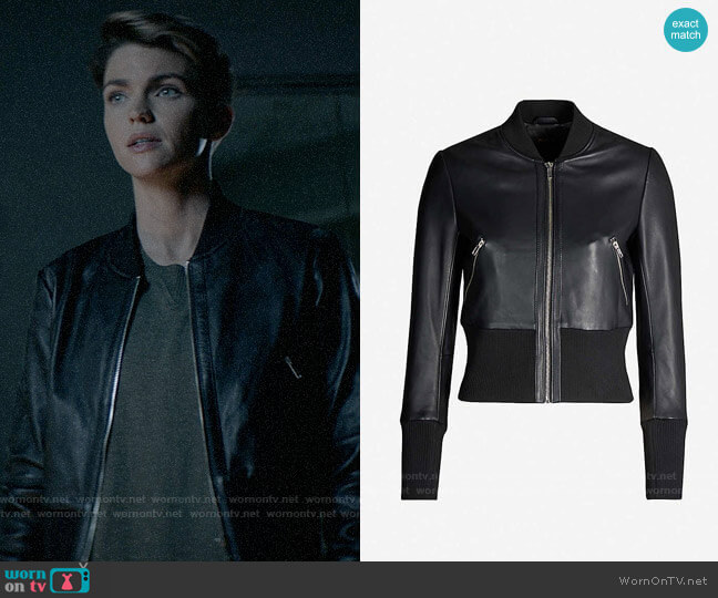 Maje Blotine Leather Jacket worn by Kate Kane (Ruby Rose) on Batwoman