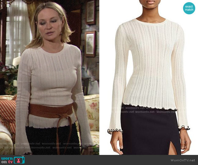 Maje Mimosa Sweater worn by Sharon Collins (Sharon Case) on The Young & the Restless