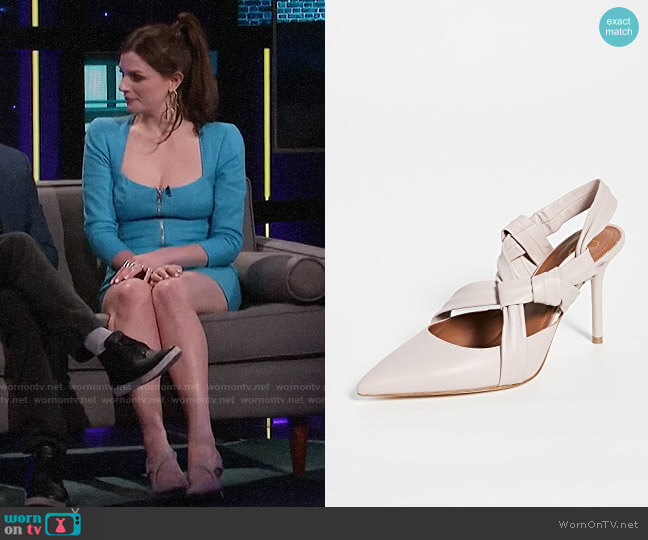 Malone Souliers Winona Pumps worn by Aisling Bea on A Little Late with Lilly Singh