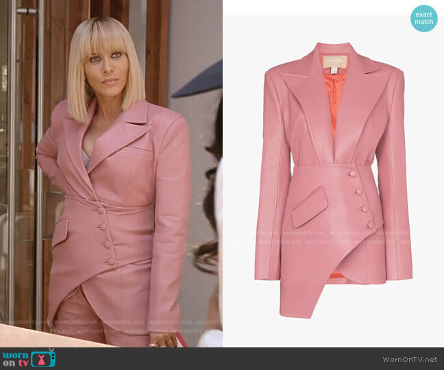 Asymmetric Faux Leather Blazer by Materiel worn by Giselle (Nicole Ari Parker) on Empire