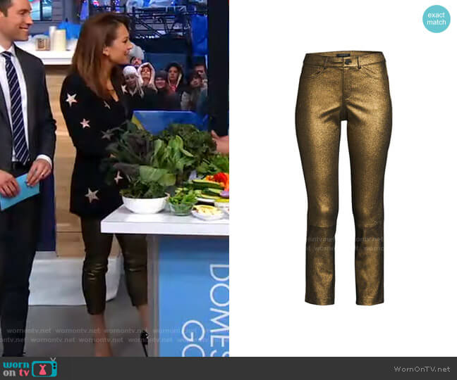 Mercer Pants by Lafayette 148 New York worn by Ginger Zee  on Good Morning America