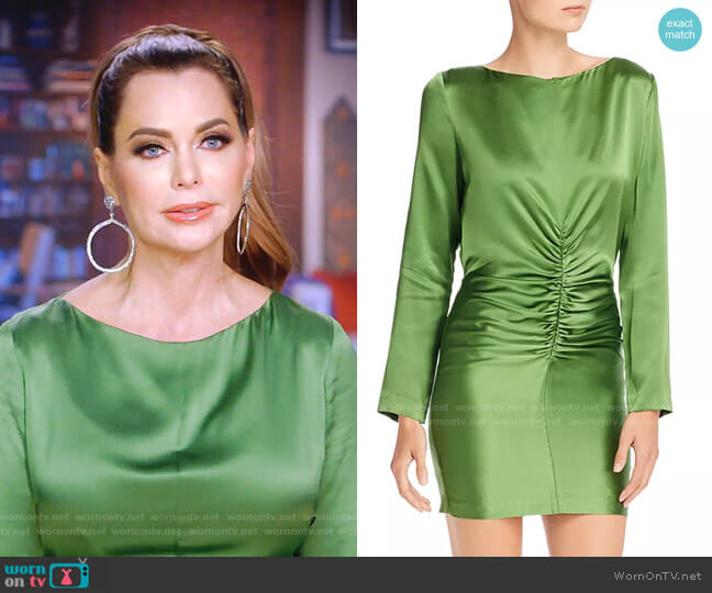 Ruched Silk Mini Dress by Michelle Mason worn by D'Andra Simmons  on The Real Housewives of Dallas