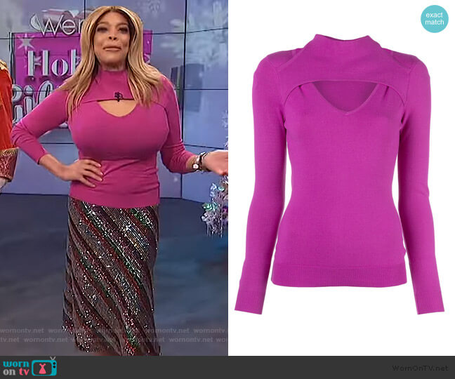 Cutout Jersey Jumper by Milly worn by Wendy Williams  on The Wendy Williams Show