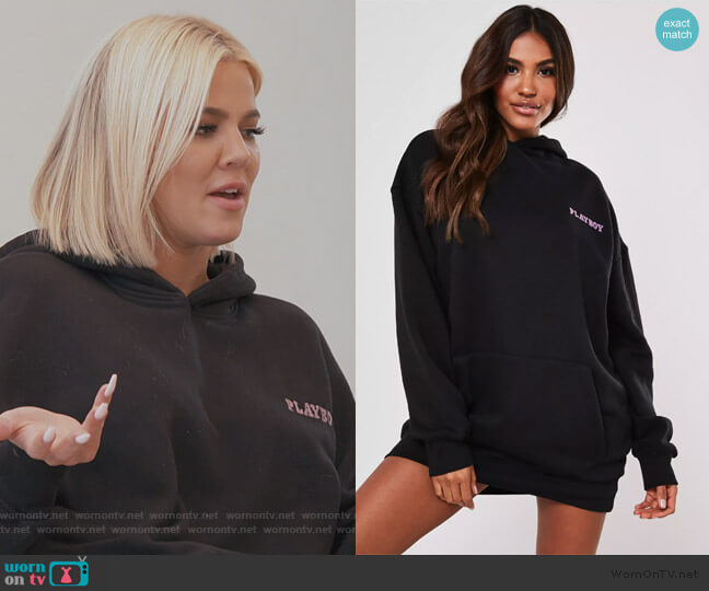 Oversized Print Playboy by Missguided worn by Khloe Kardashian  on Keeping Up with the Kardashians