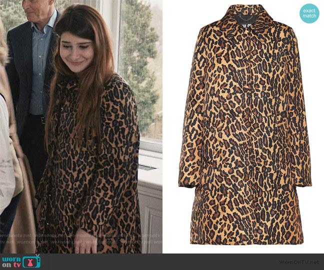 Leopard Print Buttoned Coat by Miu Miu worn by Allison McCord (Kathrine Herzer) on Madam Secretary
