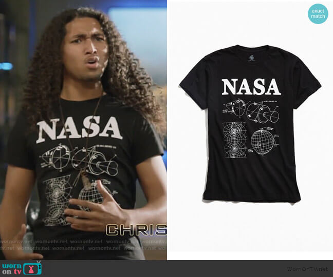 Nasa Orbital Tee by Urban Outfitters worn by Jahking Guillory on Black Lightning