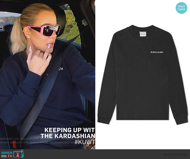 I Love the West Sweater by NasaSeasons worn by Khloe Kardashian  on Keeping Up with the Kardashians