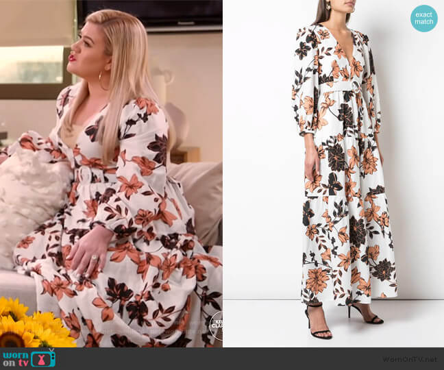 Linen Tiered Maxi Dress by Nicholas worn by Kelly Clarkson  on The Kelly Clarkson Show