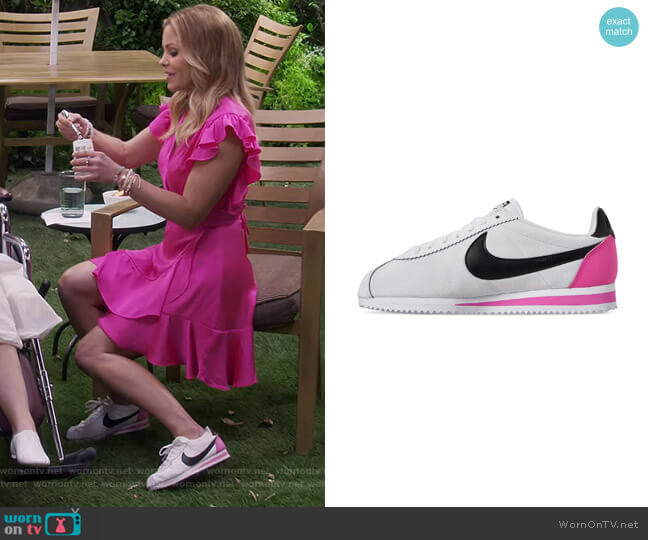 Classic Cortez Premium Casual Sneakers from Finish Line by Nike worn by DJ Tanner-Fuller (Candace Cameron Bure) on Fuller House