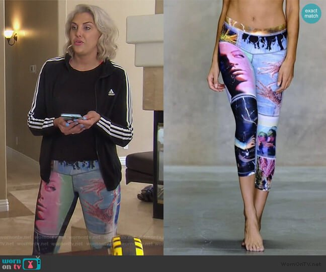 Life is Beautiful Endless Leggings by Niyama Sol worn by Gina Kirschenheiter  on The Real Housewives of Orange County