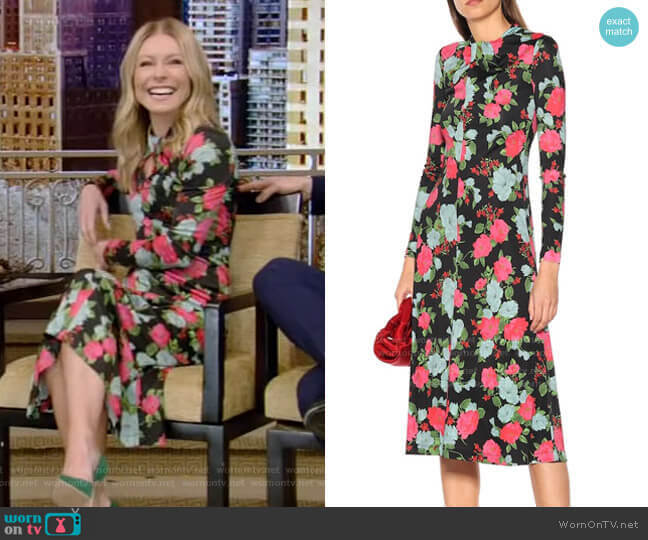Nolene Midi Dress by Erdem worn by Kelly Ripa  on Live with Kelly & Ryan