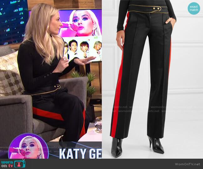 Striped Straight-Leg Pants by Paco Rabanne worn by Morgan Stewart  on E! News