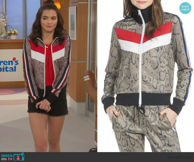 Colorblock Track Jacket by Pam & Gela worn by Alexa Mendoza (Paris Berelc) on Alexa & Katie