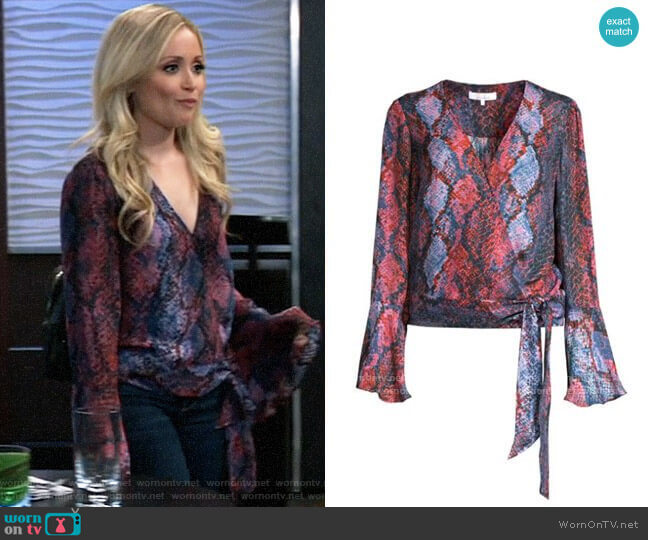 Parker Isabella Blouse in Serpentina worn by Lulu Spencer Falconeri (Emme Rylan) on General Hospital