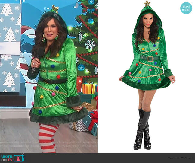Christmas Tree Dress by Party City worn by Marie Osmond  on The Talk